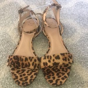 A new day animal print heels w/ ankle strap NWT
